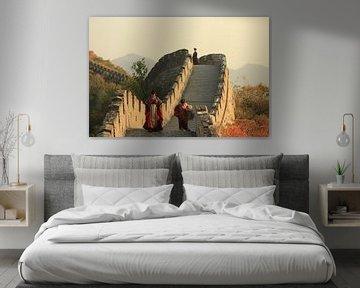 de Grote Muur van China in de herfst van Michael Semenov