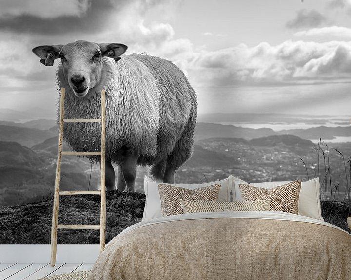 Beispiel fototapete: Wenn ein Schaf über dem Berg ist..... von Twan van Vugt