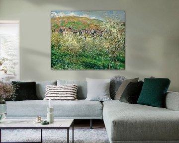 Pflaumenbäume in Blüte, Claude Monet