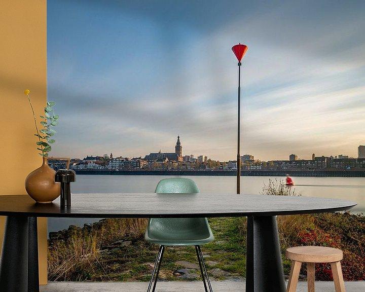 Sfeerimpressie behang: Nijmegen aan de Waal van Maerten Prins