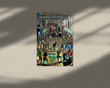 Trap voor de kerk van zam art