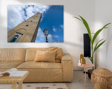 Der historische Leuchtturm Brandaris auf der Insel Terschelling im Norden der Niederlande. Er ist de von Tonko Oosterink