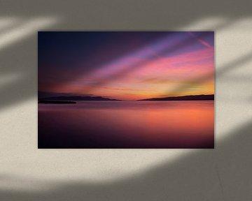 Zonsondergang aan de Dalmatische kust