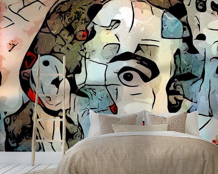 Sfeerimpressie behang: Het uitzicht (Salvador Dali) van zam art