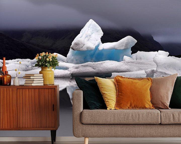 Beispiel fototapete: Eisformation mit Spiegelung von Ralf Lehmann
