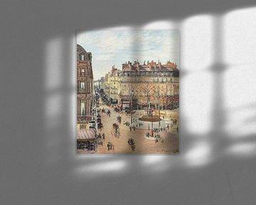Rue Saint-Honoré, Sonneneinstrahlung, Nachmittag, Camille Pissarro