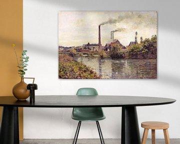 Die Fabrik bei Pontoise, Camille Pissarro