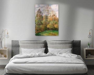 Herbst, Peupliers, Eragny, Camille Pissarro, Camille Pissarro