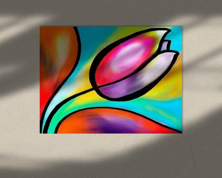 Sfeerimpressie: Kleurrijke tulp van Lida Bruinen