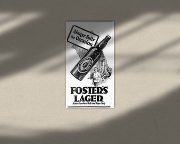 Bier Werbung von Foster's 1932 von Atelier Liesjes