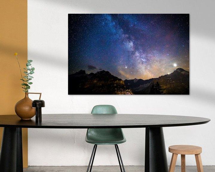 Beispiel: Sternenhimmel über den Schweizer Alpen von Maurice Haak