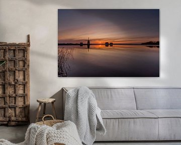 Texel Molen het Noorden zonsondergang van Texel360Fotografie Richard Heerschap