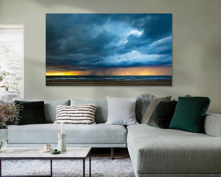 Impression: Coups de nuages au coucher du soleil sur Maurice Haak