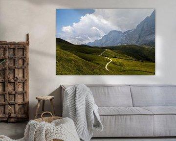 La route de la Grote Scheidegg dans les Alpes suisses