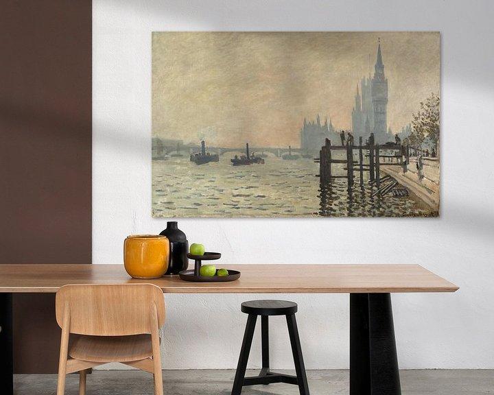 Beispiel: Die Themse unter Westminster, Claude Monet