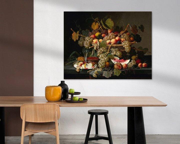 Sfeerimpressie: Stilleven met fruit, Severin Roesen