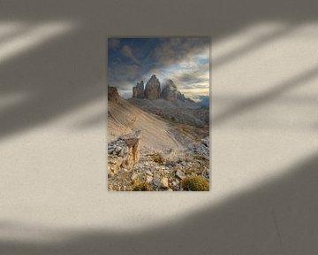 Tre Cime di Lavaredo in Zuid-Tirol van Michael Valjak