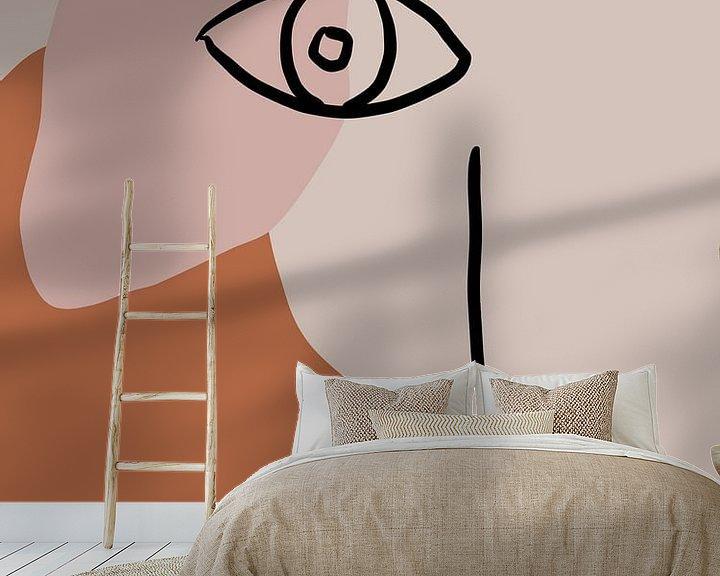 Sfeerimpressie behang: Kijk van YOPIE illustraties