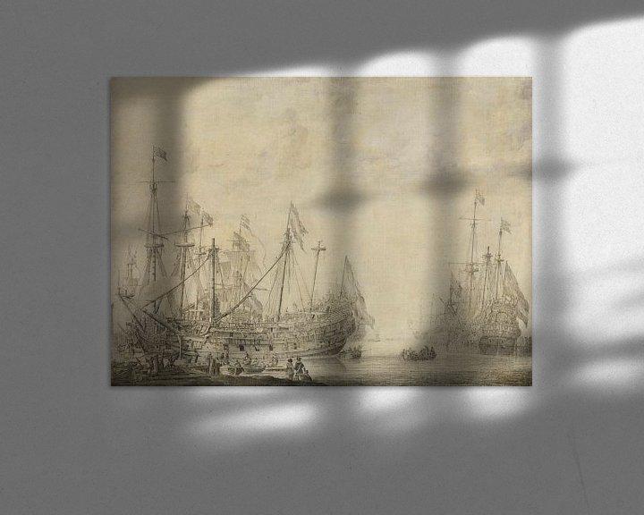 Impression: Navires après la bataille, Willem van de Velde