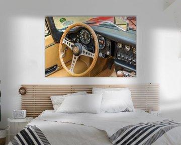 Intérieur sur un roadster Jaguar de type E sur Sjoerd van der Wal