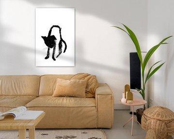 Schwarze Katze von Corine Teuben