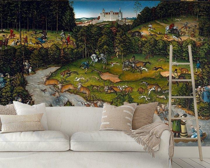 Beispiel fototapete: Jagd bei Schloss Hartenfels, Lucas Cranach von De Canon