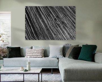 Baum schwarz-weiß abstrakt, Regte Heide, Goirle. von Malou van Gorp