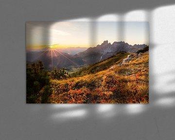 Coucher de soleil dans les montagnes sur Coen Weesjes
