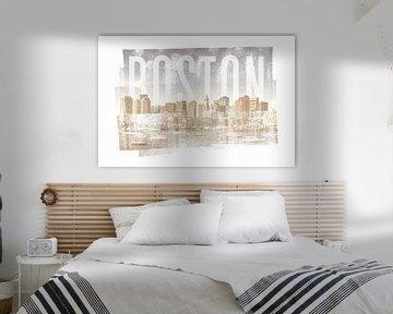 BOSTON Skyline | Vintage van Melanie Viola