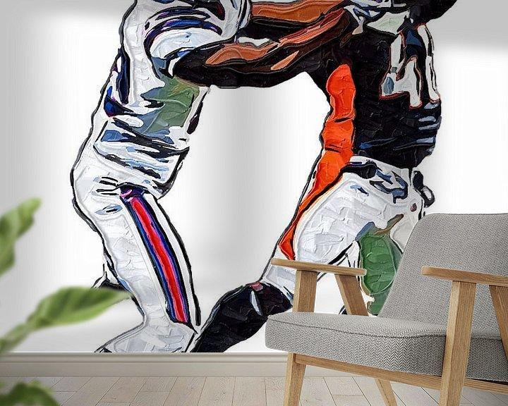 Sfeerimpressie behang: American Football van Atelier Liesjes