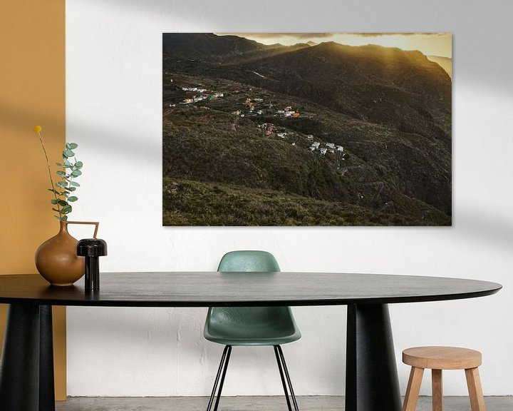 Sfeerimpressie: Zonsondergang nabij Los Silos van Sander Knopper