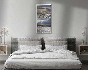Eine besondere Collage über den niederländischen Strand von Willy Sybesma