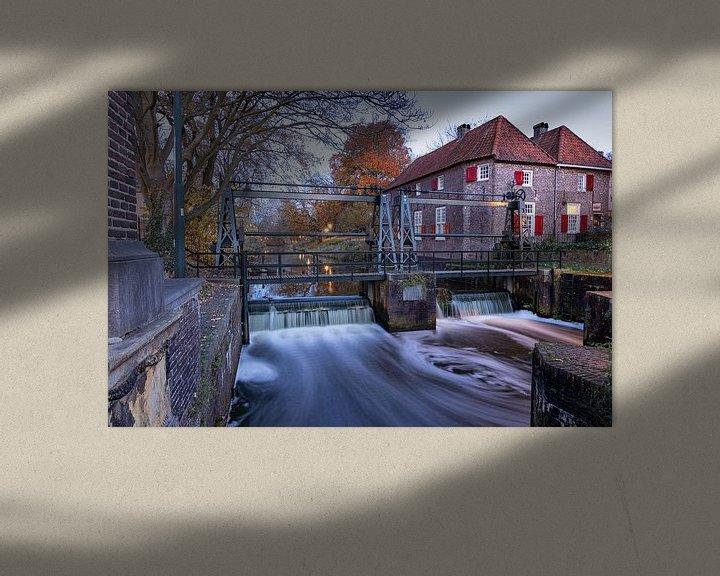 Sfeerimpressie: stuw sluis Amersfoort van Klaas Doting