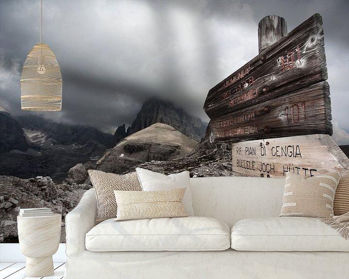 Sfeerimpressie behang: Sextner Dolomites in Italy van Ellen van Drunen