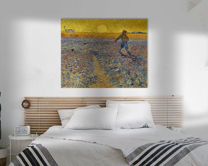 Beispiel: Der Sämann, Vincent van Gogh.