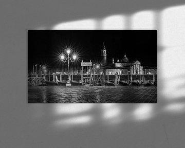 Venedig - Gondel - San Giorgio Maggiore von Teun Ruijters