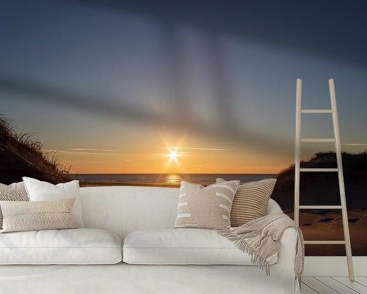 Sfeerimpressie behang: Zonsondergang Bergen aan zee van Photo Henk van Dijk