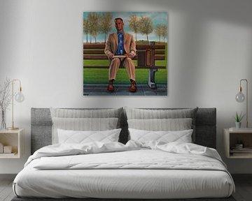 Tom Hanks in Forrest Gump Schilderij von Paul Meijering