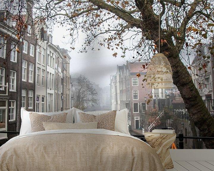 Impression: Un matin brumeux au Gaardbrug sur l'Oudegracht à Utrecht sur Arthur Puls Photography