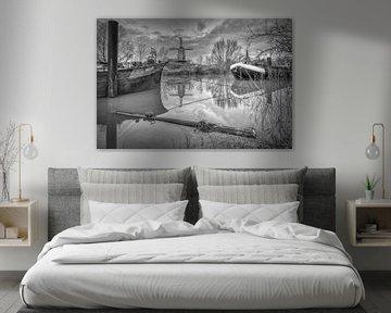 De Rijn en Lek, korenmolen - Wijk bij Duurstede van Mart Houtman
