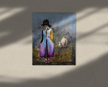 Schaf-Hutkleid von Carmen de Bruijn