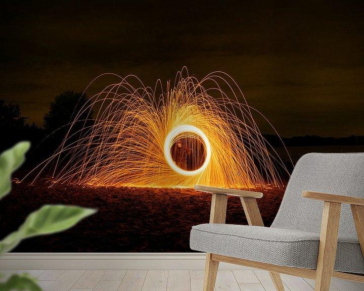 Beispiel fototapete: Lichtmalerei, Stahlwolffotografie von NJFotobreda Nick Janssen