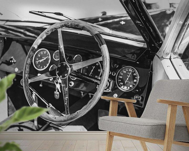 Sfeerimpressie behang: Bugatti Type 57 Berline klassieke auto interieur van Sjoerd van der Wal