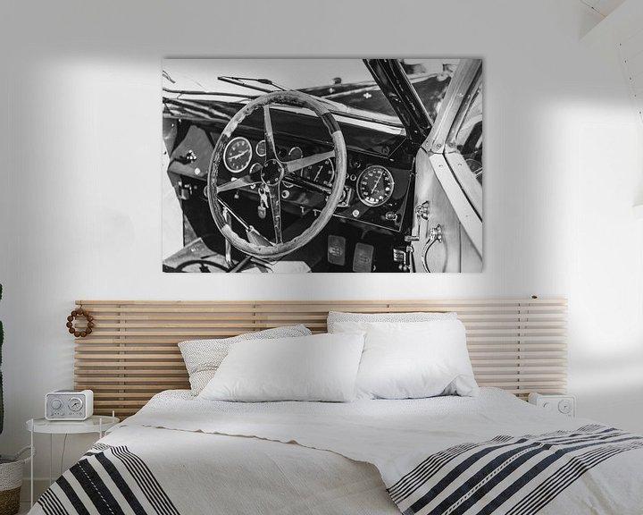 Sfeerimpressie: Bugatti Type 57 Berline klassieke auto interieur van Sjoerd van der Wal