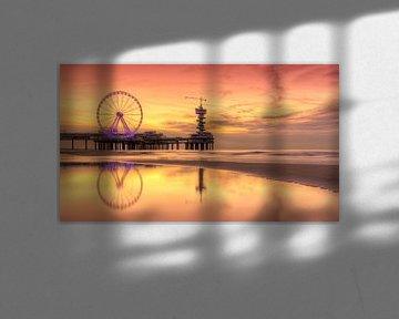 Panorama van Scheveningen Pier en Reuzenrad van Rob Kints