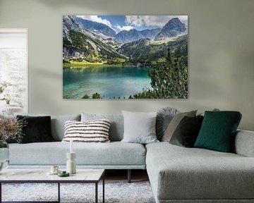 Bergmeer in de Alpen van Peter Leenen