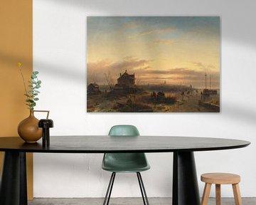 Winter op het IJ voor Amsterdam, Charles Leickert
