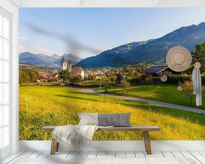 Sfeerimpressie behang: Kitzbühel in Tirol van Werner Dieterich