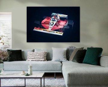 Ferrari Gilles Villeneuve van Nylz Race Art