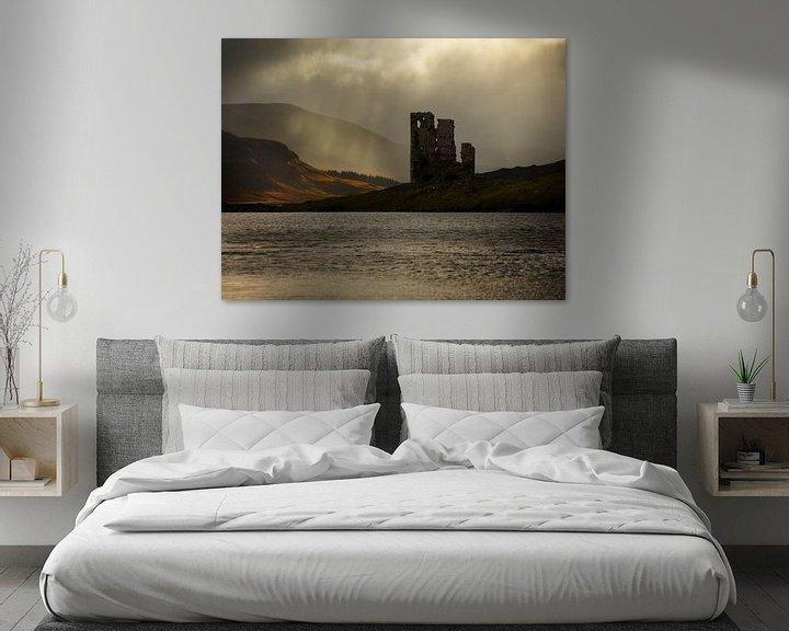 Sfeerimpressie: Ardvreck kasteel aan Loch Assynt in Schotland van Jos Pannekoek